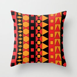 Ethnic African Geometric Pattern Throw Pillow