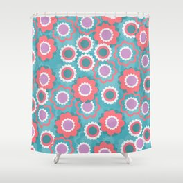 Spring floral field Shower Curtain