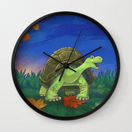 Animal Parade Tortoise Wall Clock