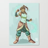 korra Canvas Prints featuring Korra by beroberos