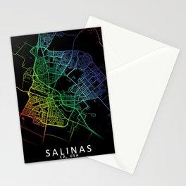Salinas CA USA City Map Rainbow City Map Art Print Stationery Cards