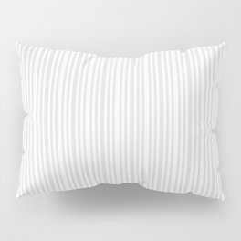 Pastel gray white vintage stylish geometrical stripes Pillow Sham