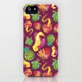 Fruit Fish Frenzy Raspberry iPhone Case