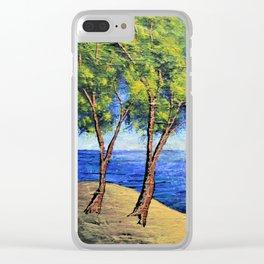 Summer In Michigan Clear iPhone Case