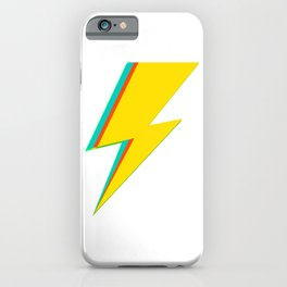 Lightning bolt (yellow Version) iPhone Case