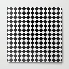 schwarz weiß kariert 2 Metal Print