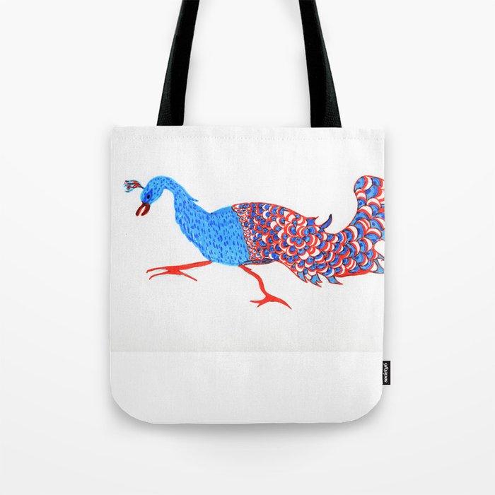 Evil eyed peacock Tote Bag