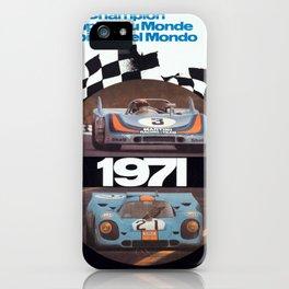 Vintage 1971 racing Poster iPhone Case