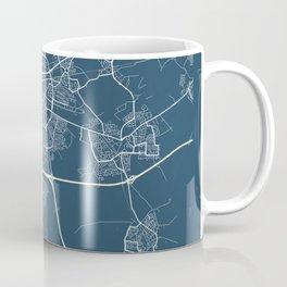 Eindhoven Blueprint Street Map, Eindhoven Colour Map Prints Coffee Mug