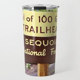 Trail of 100 Giants Vintage National Forest Sign Travel Mug
