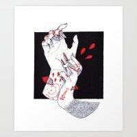 werewolf Art Prints featuring Werewolf by scoobtoobins