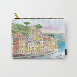 Portofino Ligure Dream Seafront View Carry-All Pouch