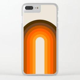 Golden Rainbow Clear iPhone Case
