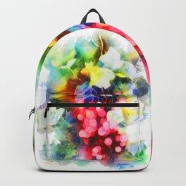 Watercolor grape vines Backpack