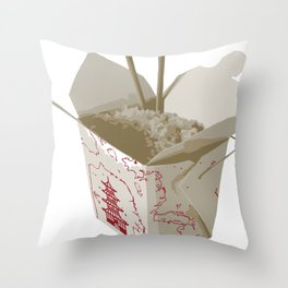 Chinese Food Map Throw Pillow