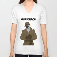rorschach V-neck T-shirts featuring Rorschach by Design Sparks