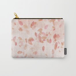 My favourite colour: PINK OCTOBER - Indian Summer - Rose Gold autumnal leaves Carry-All Pouch