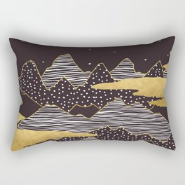 Gold Mountain Peaks Rectangular Pillow