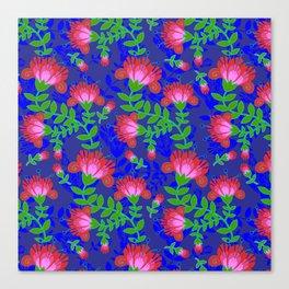 Flora De Fuego Royal Canvas Print