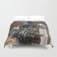 guardians Duvet Covers featuring Halo5 Guardians by ezmaya