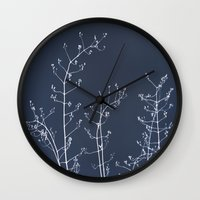 reassurance Wall Clocks featuring Jasmine In the Still of the Night by tanjica