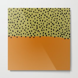 Abstract orange mid century art Metal Print