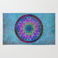 flower of life Area & Throw Rugs featuring Flower of Life 3 by Klara Acel