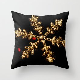 Abstract Golden Holiday Star Throw Pillow
