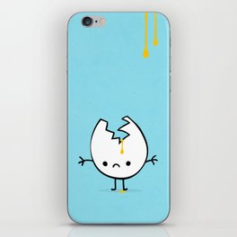 Mr Egg is now sad iPhone Skin