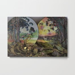 Gum Trees on English China Metal Print