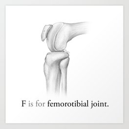 F is for femorotibial joint Art Print
