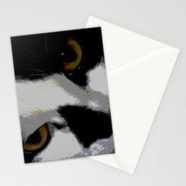 Black white cat Stationery Cards