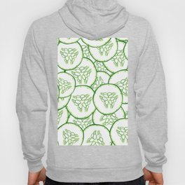 Cucumber slices pattern design Hoody