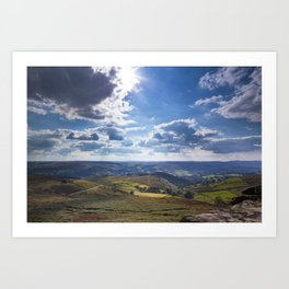 View onto Hope Valley Art Print