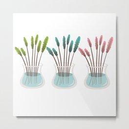 Flower vases, glass vase. Metal Print