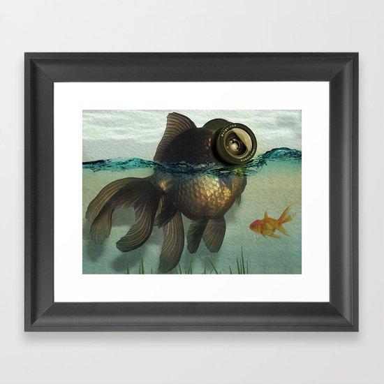 Fish eye lens Framed Art Print