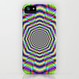 Psychedelic Octagon Pulse iPhone Case