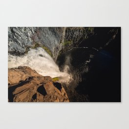 Fear of Heights - Palouse Falls Canvas Print