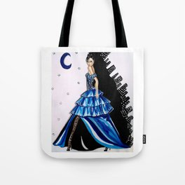 MIDNIGHT IN MANHATTAN FASHION ILLUSTRATION BY JAMES THOMAS RYAN Tote Bag