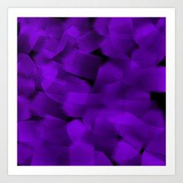 Translucent Stripes of Purple Ribbon Art Print