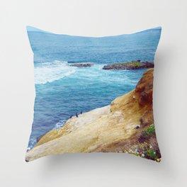 Cliffs and Shoals Throw Pillow