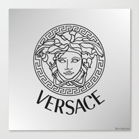 versace Canvas Prints featuring Versace by Beauti Asylum