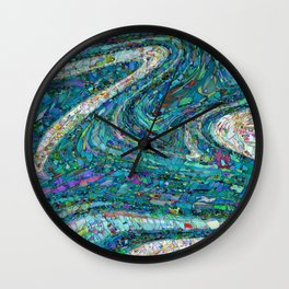 Abstract twentythree by Tony Roberts Wall Clock