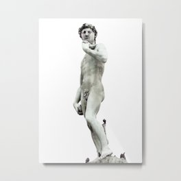 DAVID PIAZZALE MICHELANGELO FIRENZE Metal Print