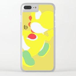 Yoshi(Smash)Yellow Clear iPhone Case