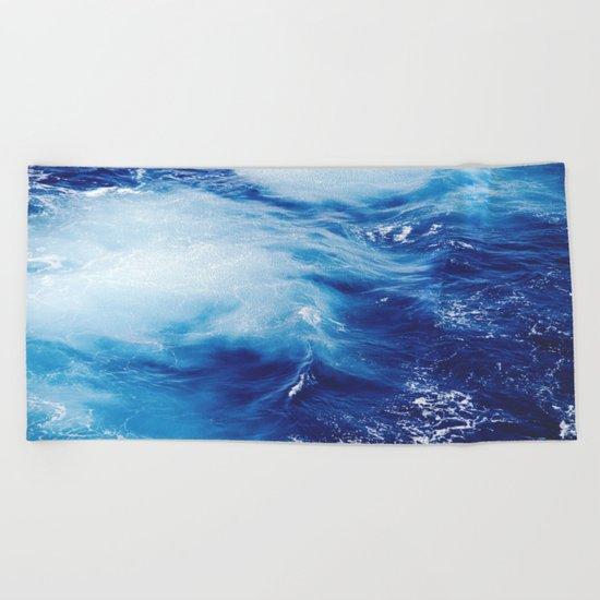 Ocean #blue Beach Towel