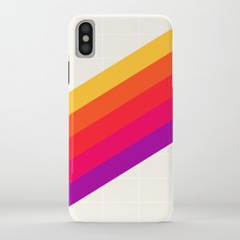 VHS Rainbow 80s Video Tape iPhone Case