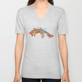 The Fox Jump Unisex V-Neck