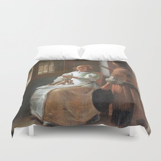 iphone vintage 4 Duvet Cover