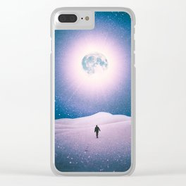 Walking Into The Future Clear iPhone Case